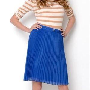 Ivanka Trump Pleated Olympia Blue Skirt Size 4 #76